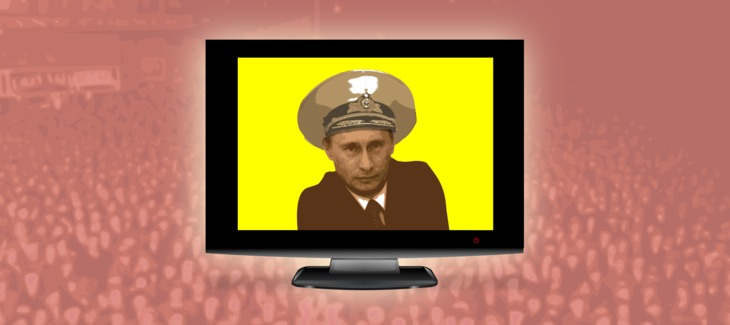 Putin and TV as the Opium of the Masses - Illustration